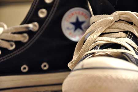 Converse basketball shoes.
